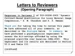 letters to reviewers opening paragraph