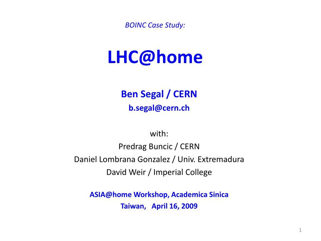 BOINC Case Study:
