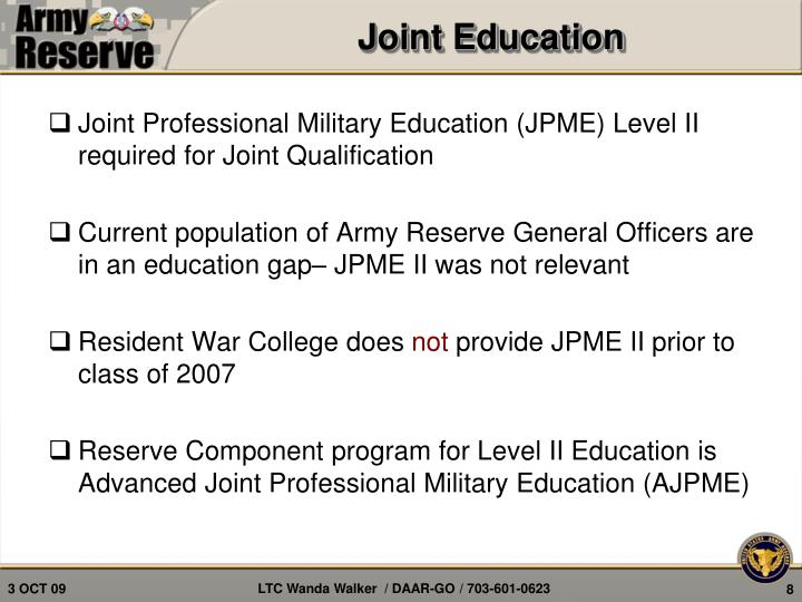 Joint Education