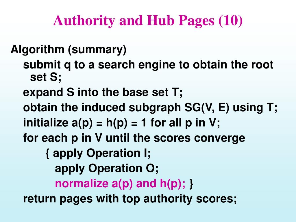 Authority and Hub Pages (10)