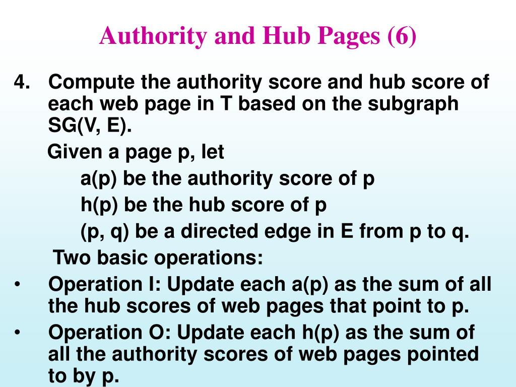 Authority and Hub Pages (6)