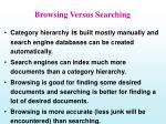 browsing versus searching