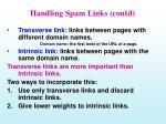 handling spam links contd