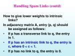 handling spam links contd36