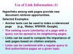 use of link information 1