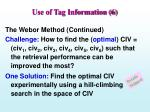 use of tag information 6