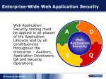 enterprise wide web application security