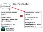 query specific
