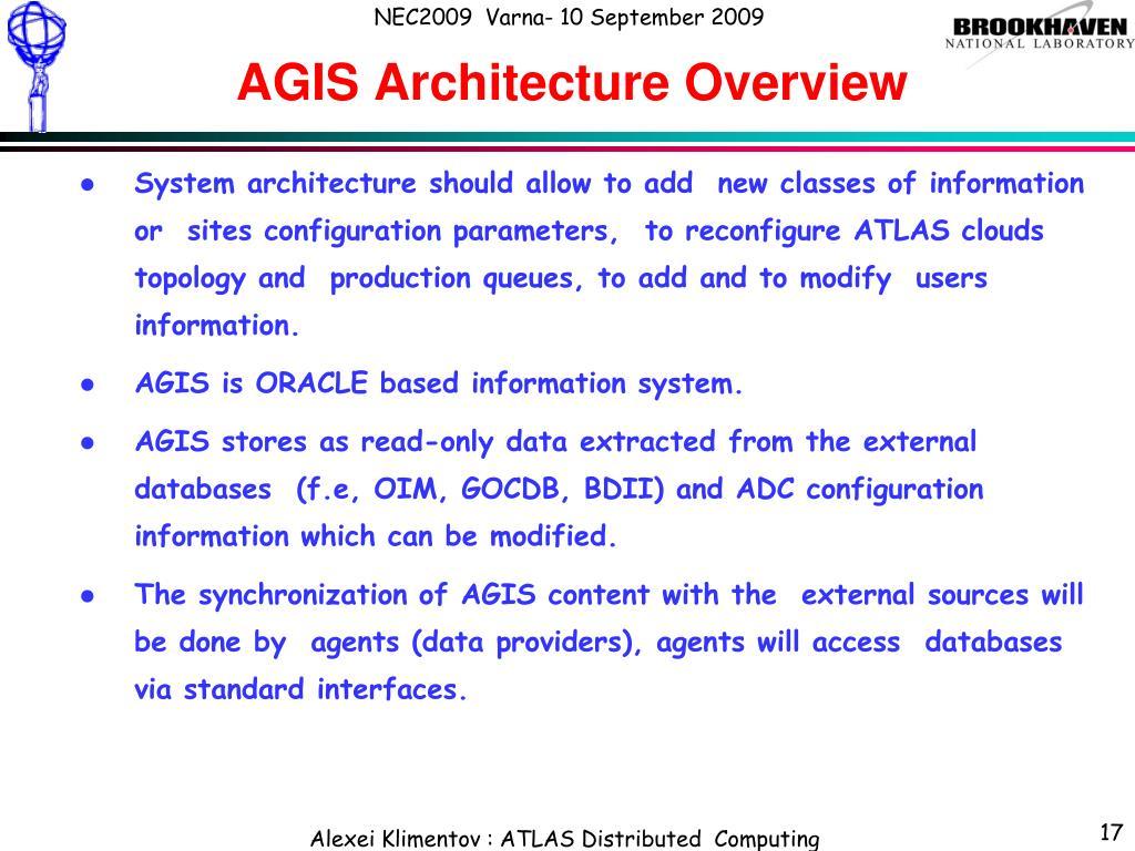 AGIS Architecture Overview