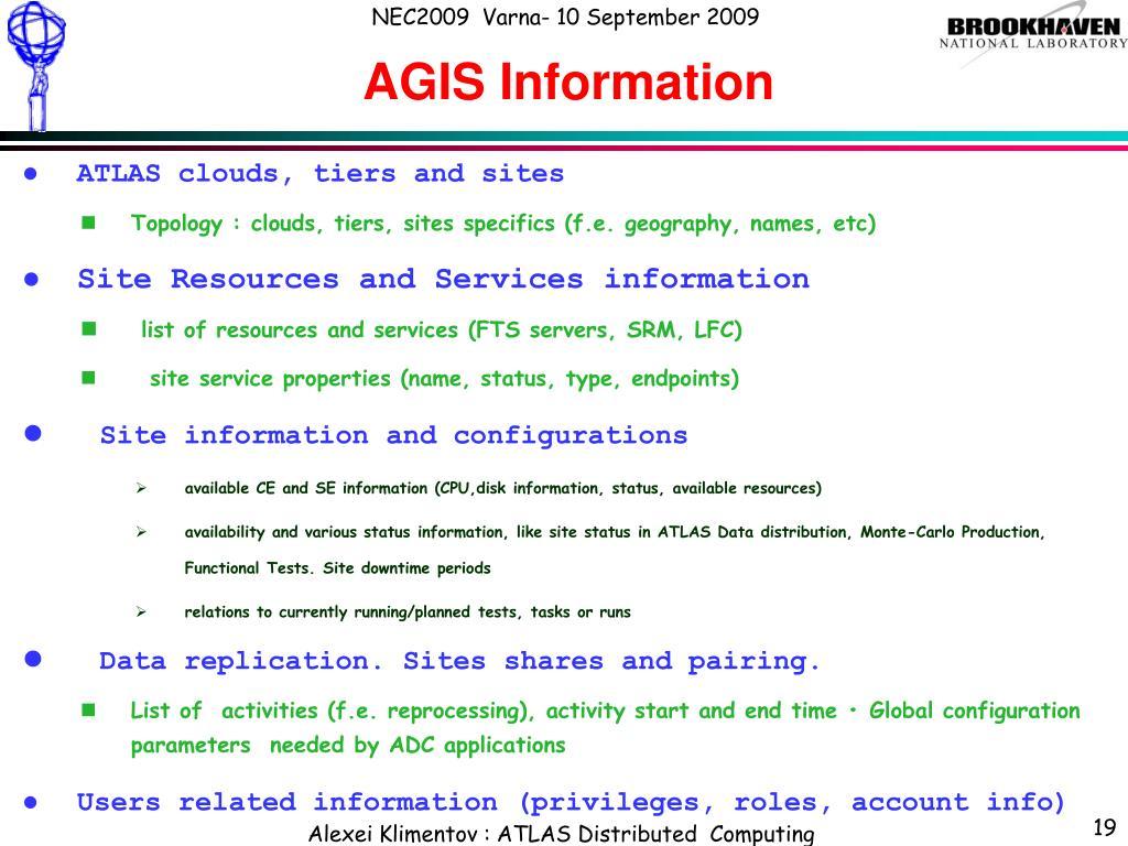 AGIS Information