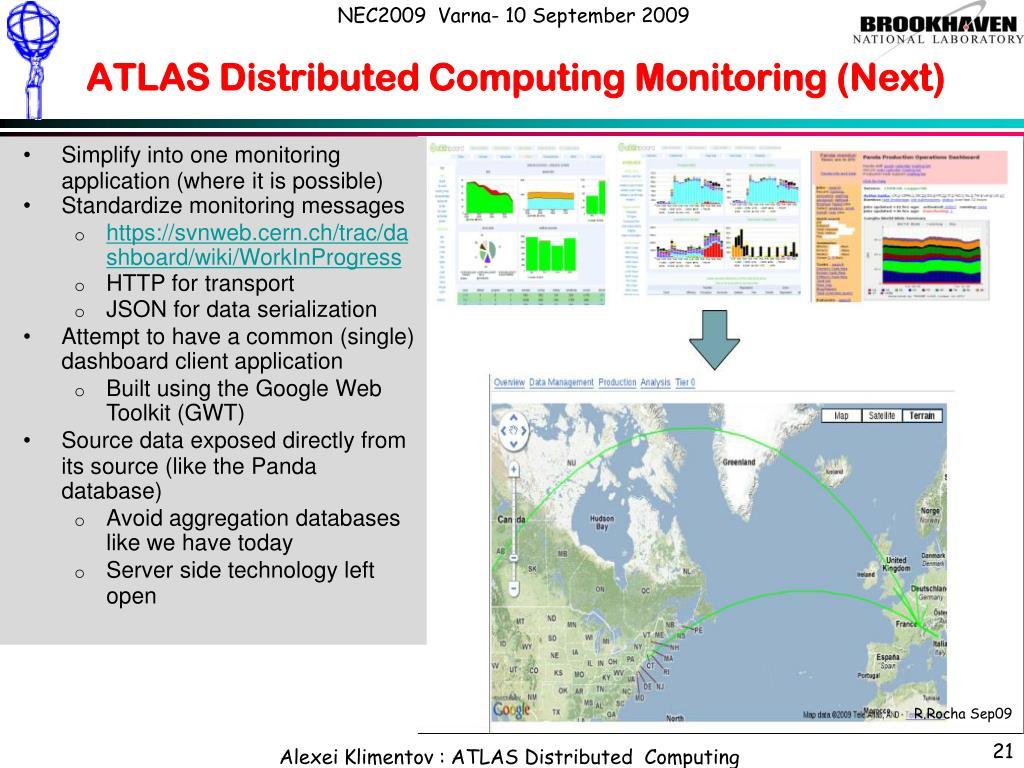 ATLAS Distributed Computing Monitoring (Next)