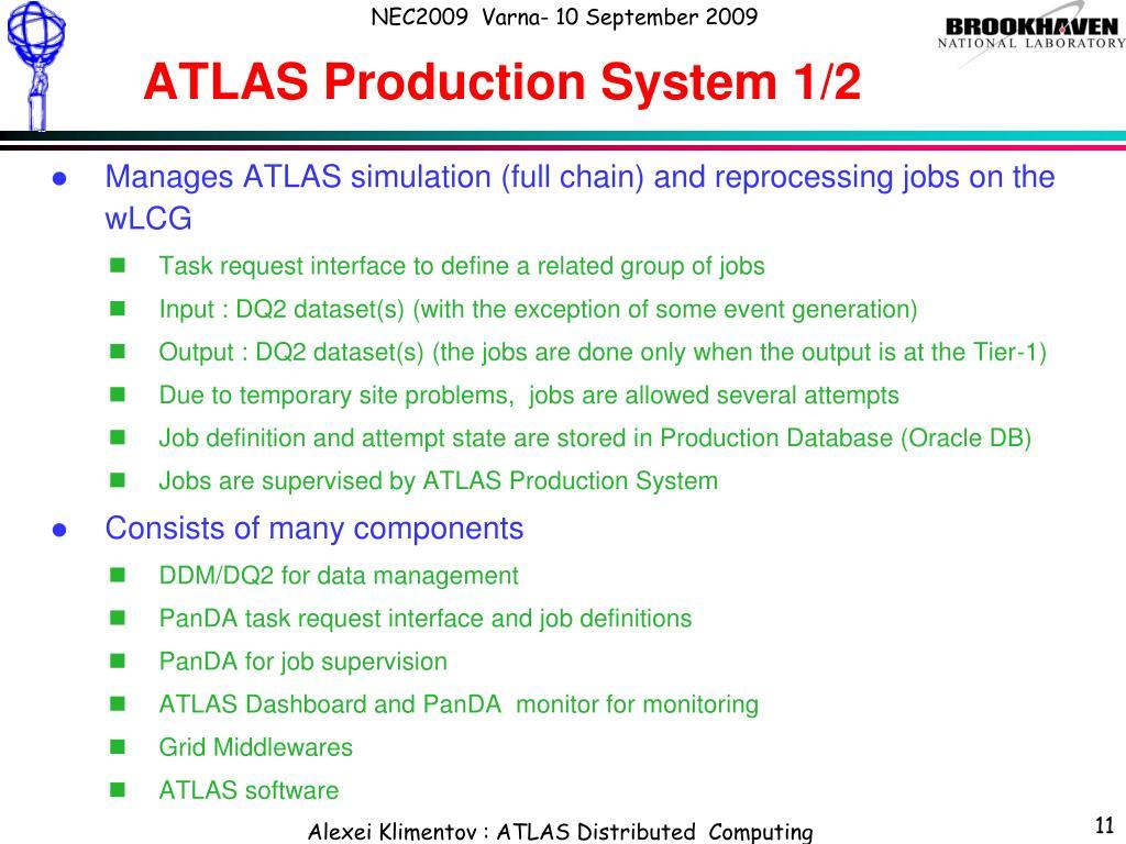 ATLAS Production System 1/2