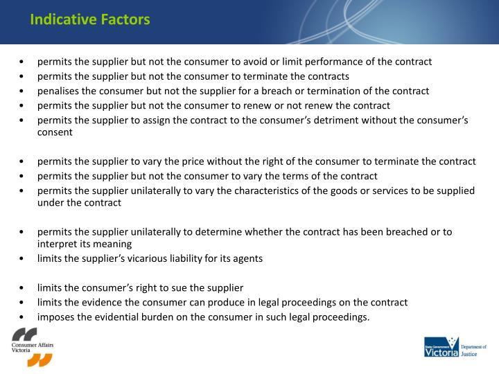 Indicative Factors