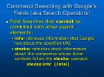 command searching with google s fields aka search operators49