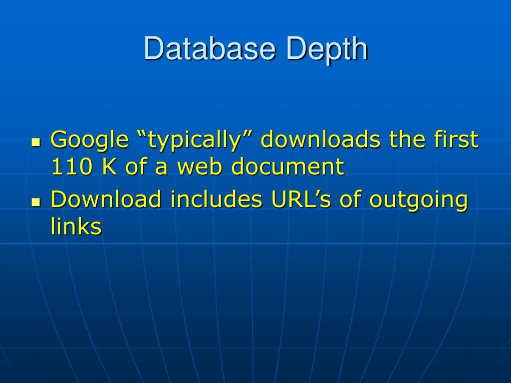Database Depth