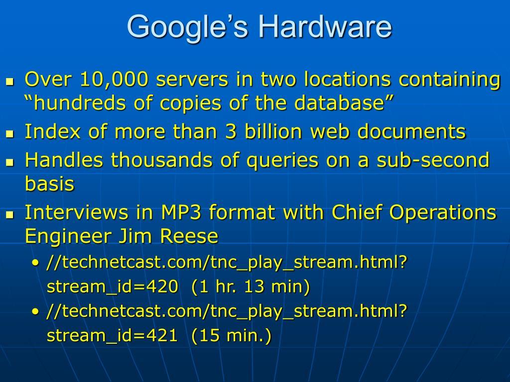 Google's Hardware