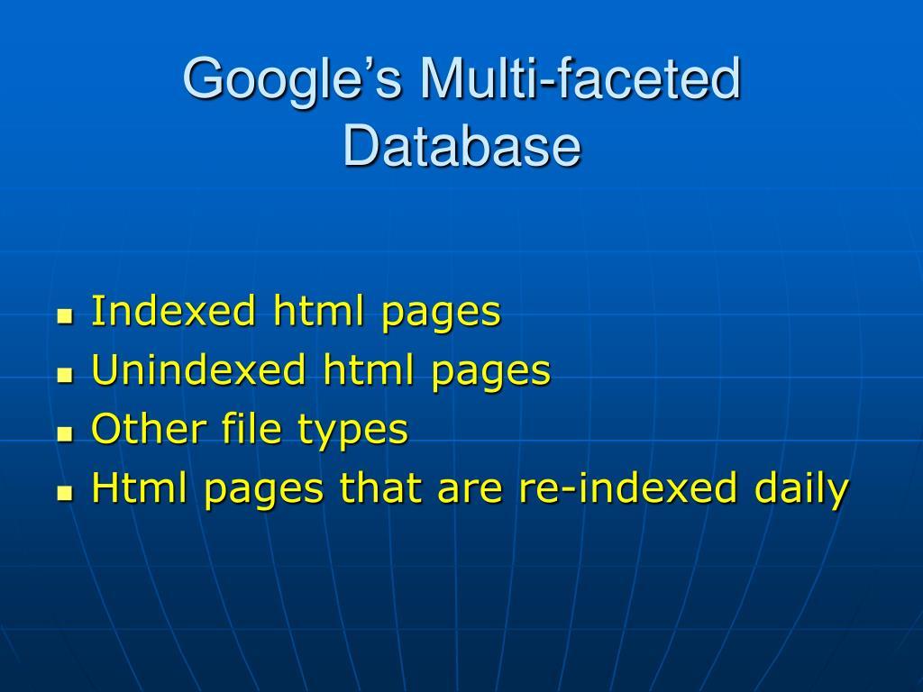Google's Multi-faceted