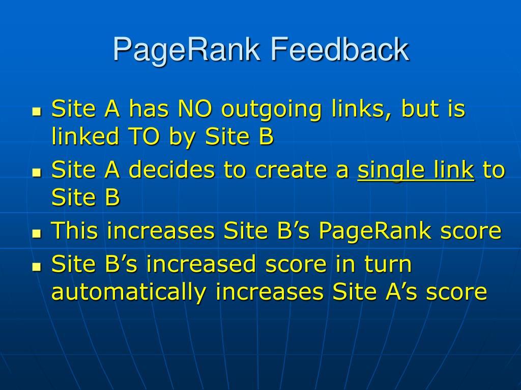 PageRank Feedback