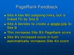 pagerank feedback
