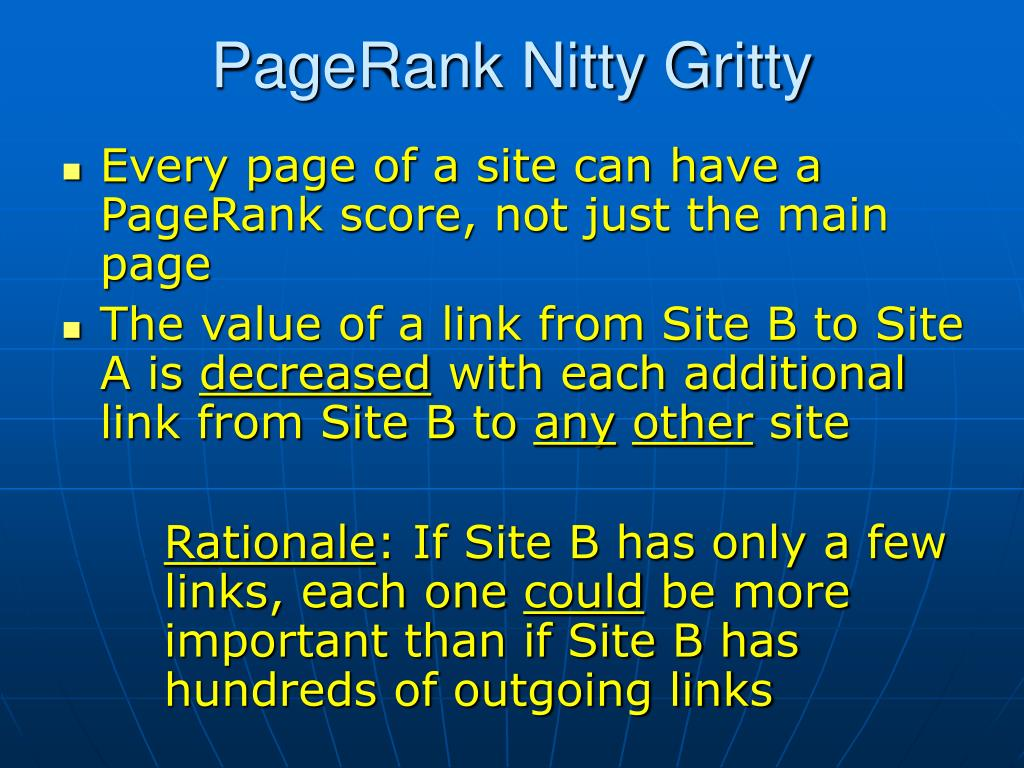 PageRank Nitty Gritty