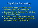 pagerank processing