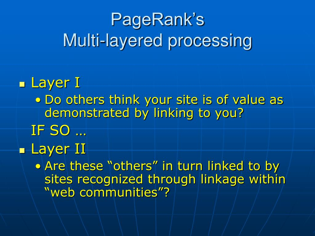 PageRank's