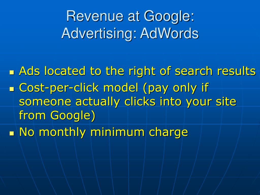 Revenue at Google:
