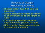 revenue at google advertising adwords73