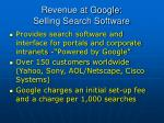 revenue at google selling search software