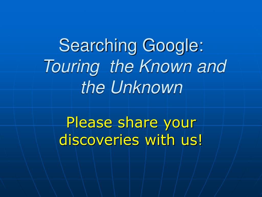 Searching Google: