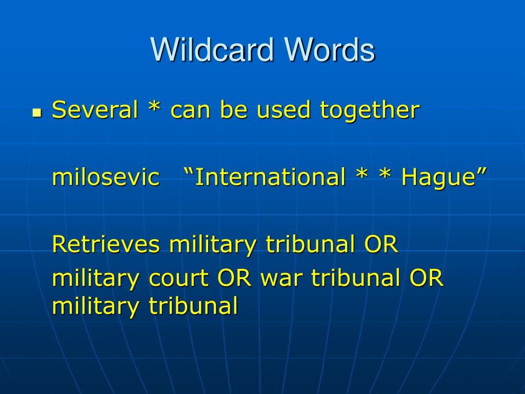 Wildcard Words