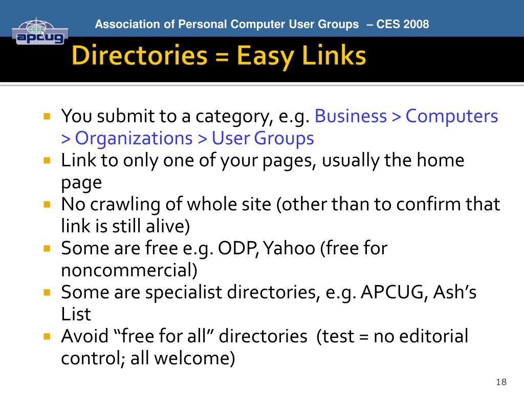 Directories = Easy Links