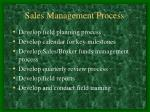 sales management process