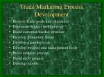 trade marketing process development