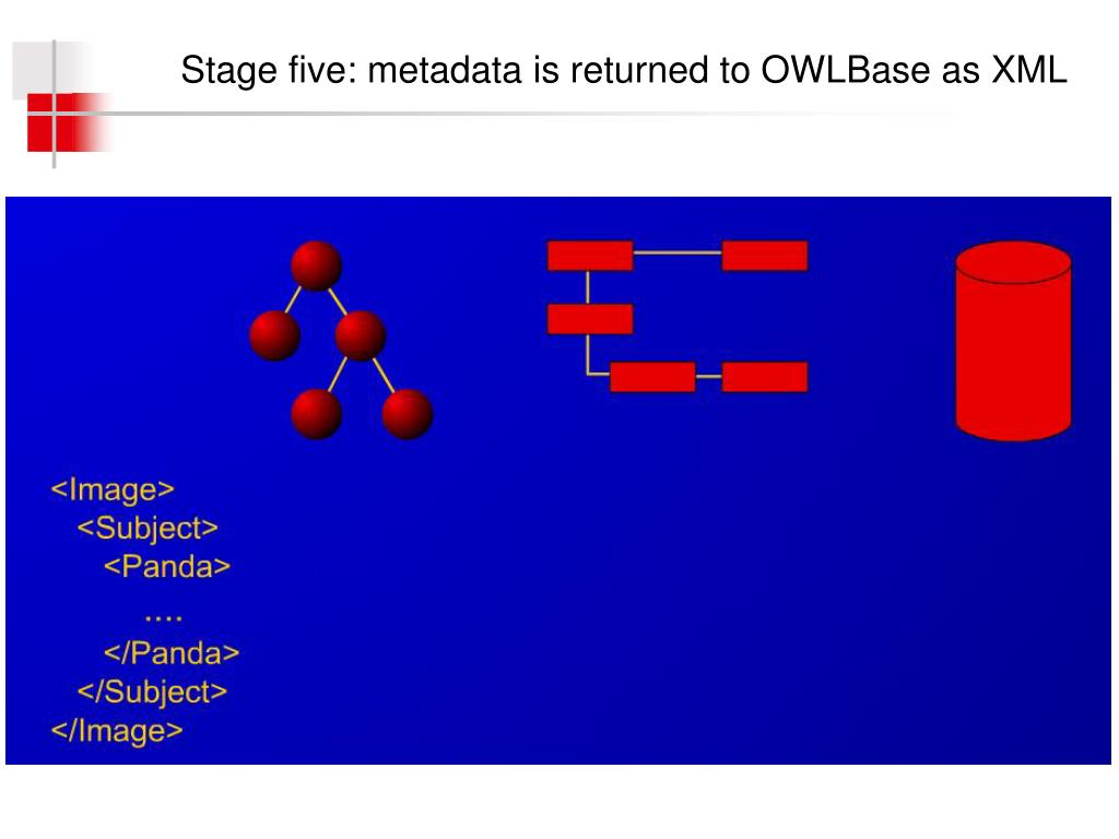 Stage five: metadata is returned to OWLBase as XML