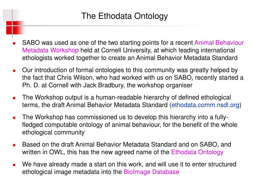 The Ethodata Ontology