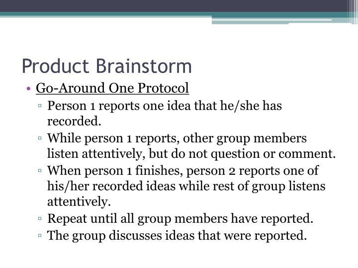 Product Brainstorm