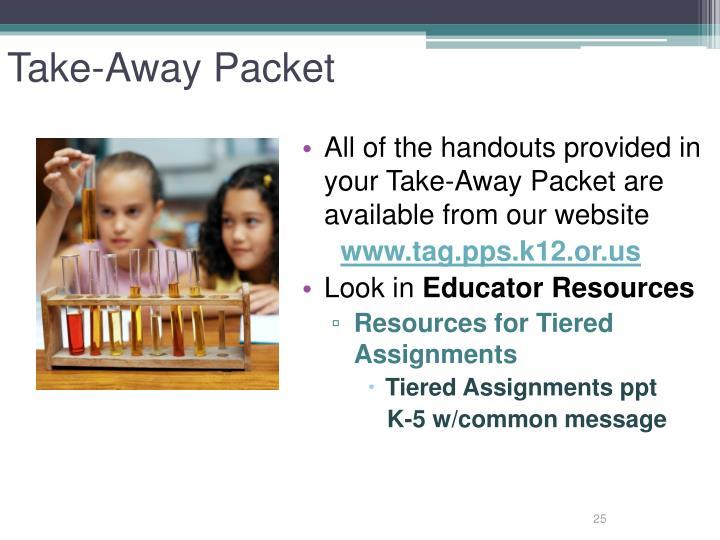 Take-Away Packet