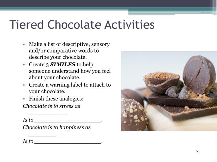 Tiered Chocolate Activities