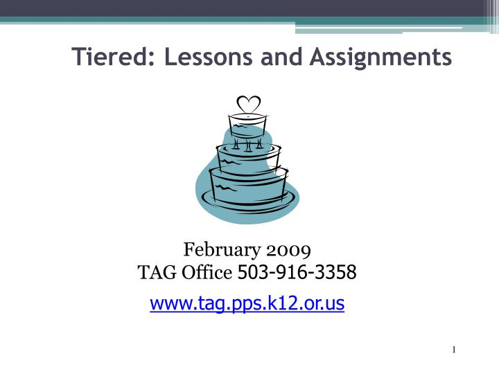 Tiered lessons and assignments