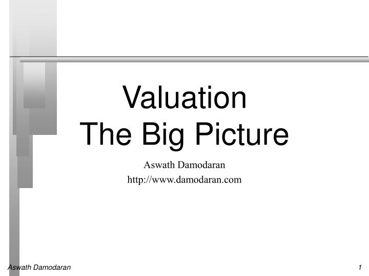 valuation the big picture n.