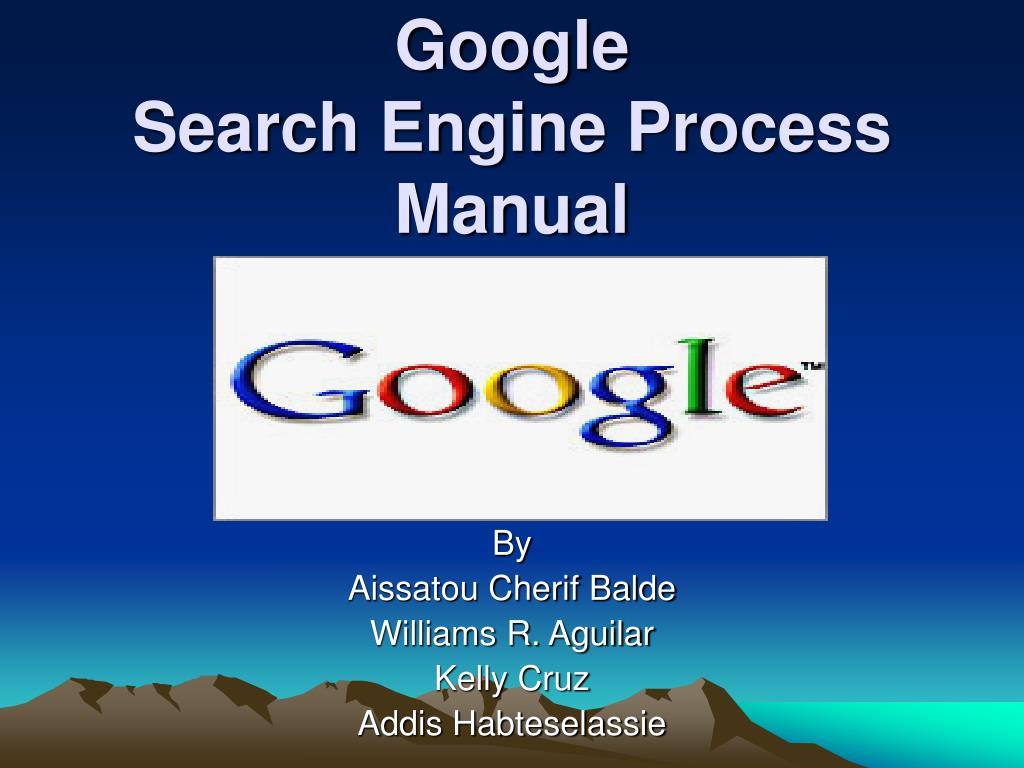 google search engine process manual l.