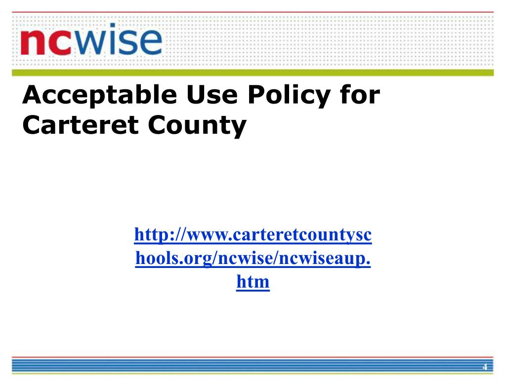 Acceptable Use Policy for Carteret County