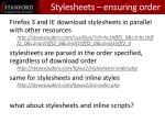 stylesheets ensuring order