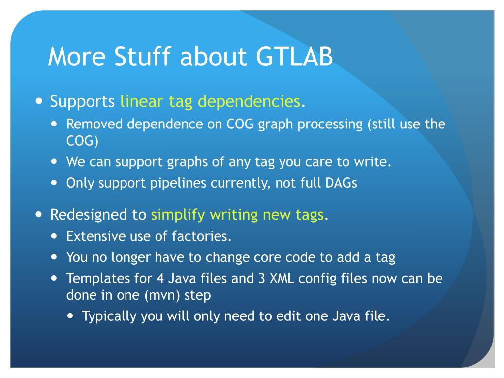More Stuff about GTLAB