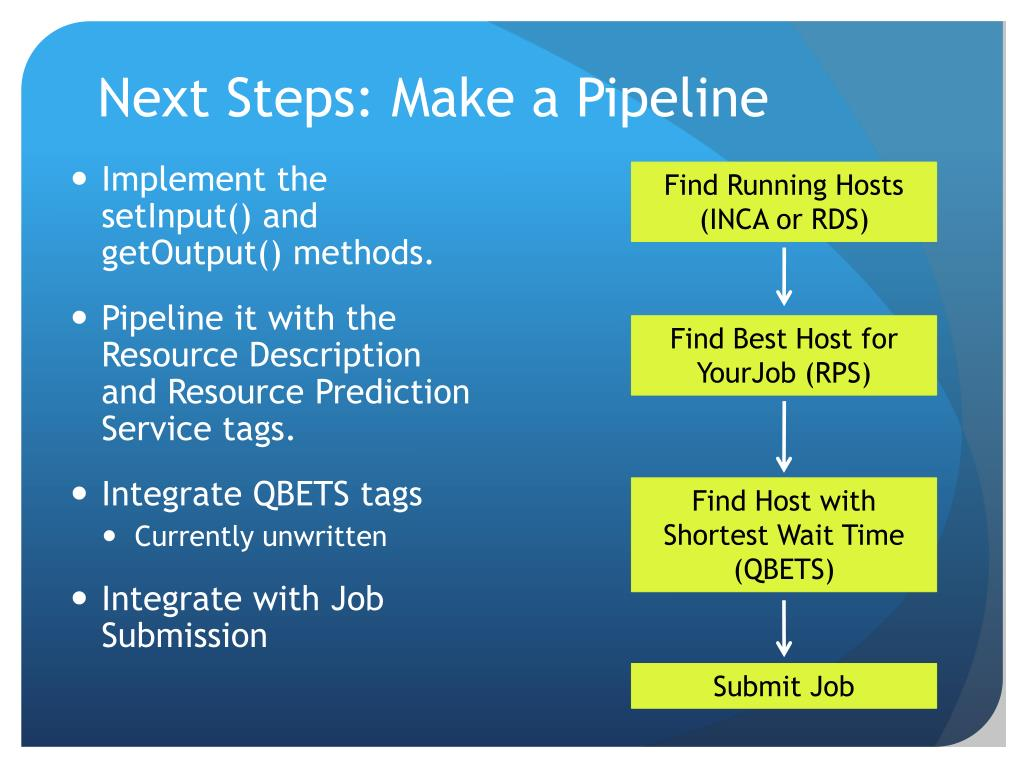Next Steps: Make a Pipeline