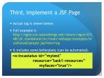 third implement a jsf page