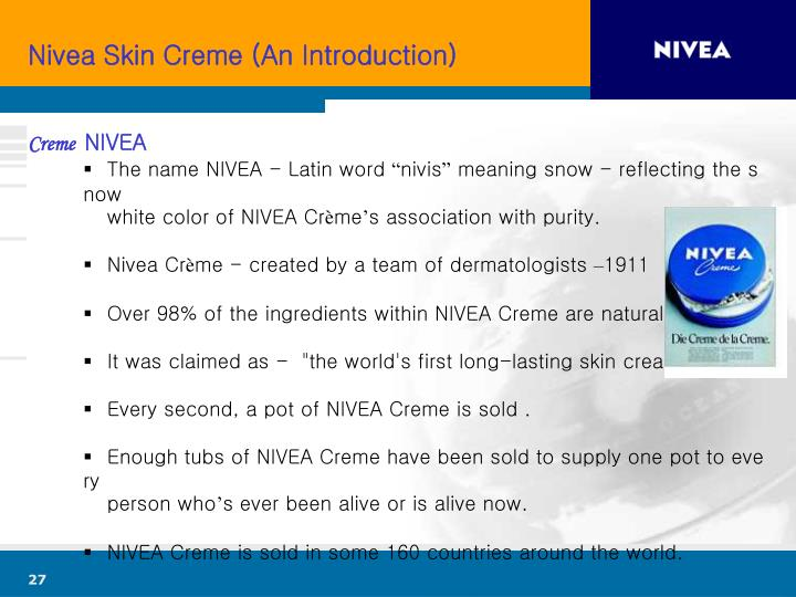 Nivea Skin Creme (An Introduction)