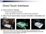 direct touch interfaces