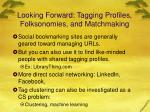 looking forward tagging profiles folksonomies and matchmaking